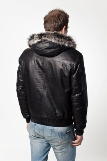 Кожаная куртка на меху арт 2008