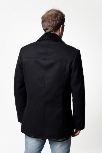 Пальто из кашемира на меху арт