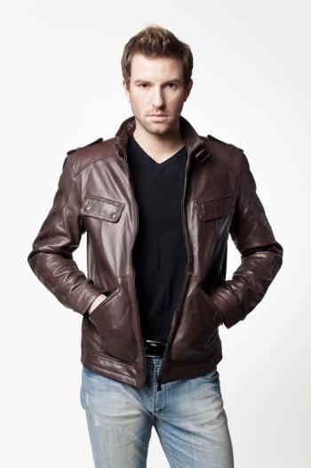 Мужская кожаная куртка METRO