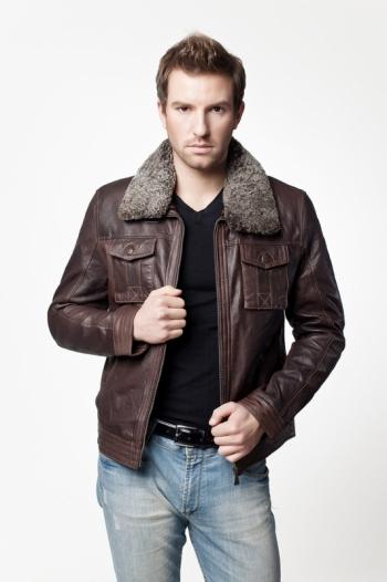 Кожаная куртка арт Walker