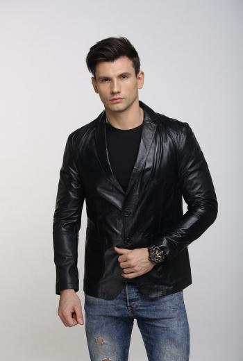 Кожаный пиджак Art Milzon