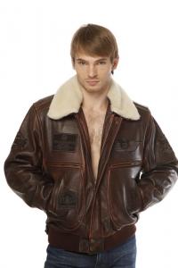 Кожаная куртка арт Top Gun