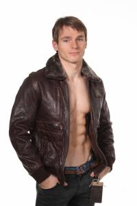 Кожаная куртка art Huston