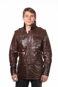 Кожаная куртка art Kanzas
