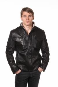 Кожаная куртка на меху art 2206