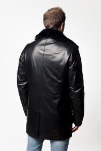 Кожаное пальто на меху