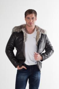 Кожаная куртка на меху арт 3071