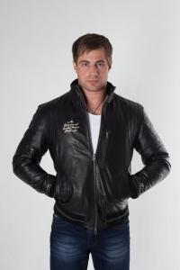 Кожаная куртка арт Tapout