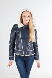 Кожаная куртка на меху арт 12272