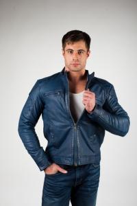 Кожаная куртка Speech Blue
