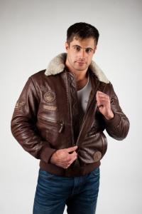 Кожаная куртка арт MP-CREWABER