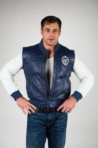 Кожаная куртка арт Zenit