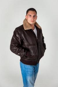 Кожаная куртка TOP GAN DA