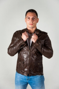 Кожаная куртка TIGHA 4485