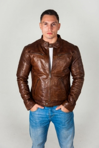 Кожаная куртка CARLOS OLIVE