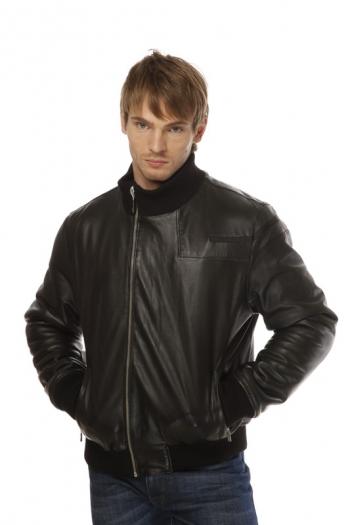 Кожаная куртка на меху ER-383