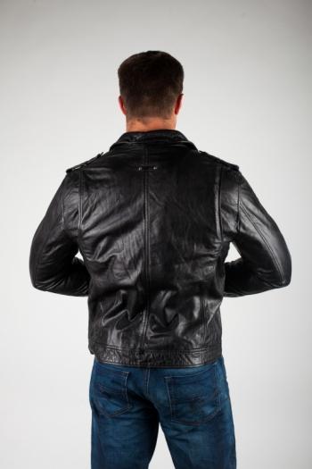 Кожаная куртка арт BRN-2