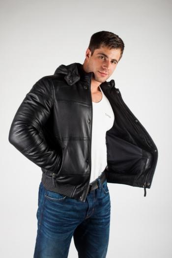 Кожаная куртка арт 620600