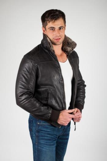Кожаная куртка арт LC-BOMBER