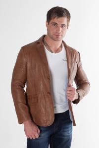 Кожаный пиджак арт Rapongi