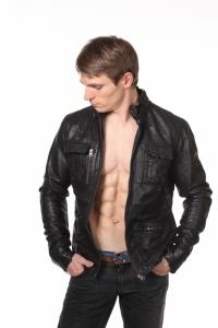Кожаная куртка art Joe