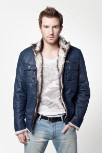 Кожаная куртка на меху арт 8436