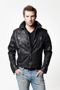 Мужская кожаная куртка арт  PARKER