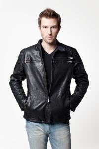 Мужская кожаная куртка DMO-0027