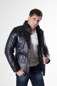 Кожаная куртка на меху арт 4405