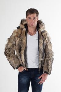Куртка из меха волка арт 8083