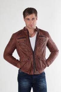 Кожаная куртка арт MJ-04