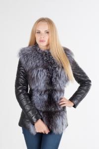 Кожаная куртка трансформер с мехом