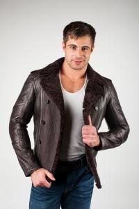 Кожаная куртка арт WINTER FUR