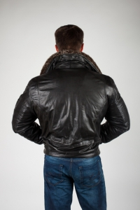 Кожаная куртка арт CD-BLUE